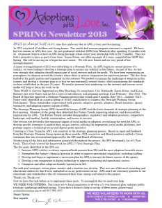 Adoption Newsletter