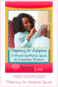 preparing to place baby for adoption